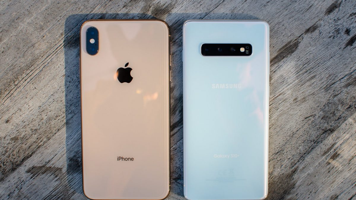 iPhone XS Max vs Galaxy S10+: Durata de viata a bateriei