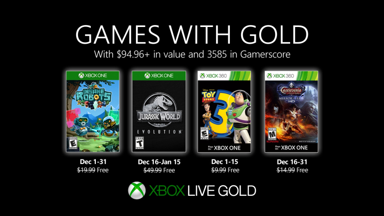 Jocurile gratuite Xbox Games with Gold Decembrie 2019