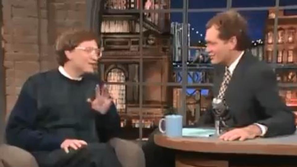 Capsula timpului – Video amuzant din 1995 in care Bill Gates ii explica lui David Letterman ce este internetul