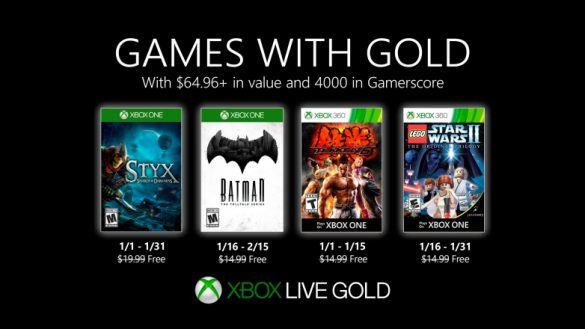 Jocurile gratuite Xbox Games with Gold Ianuarie 2020