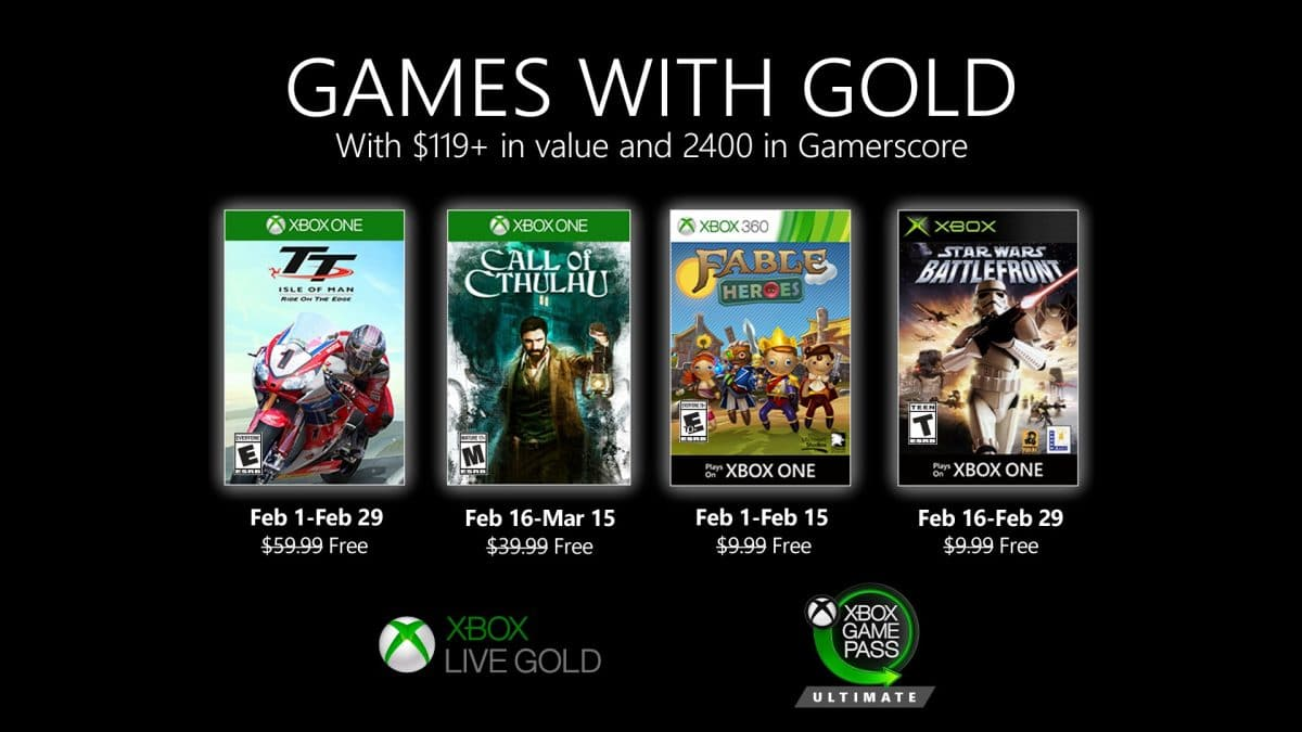 Jocurile gratuite Xbox Games with Gold Februarie 2020