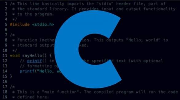 Limbajul de programare C a detronat Python ca popularitate in 2019