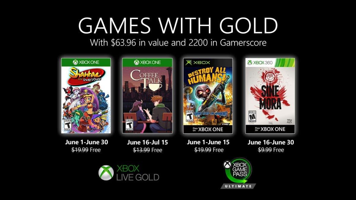 Jocurile gratuite Xbox Live Gold Iunie 2020