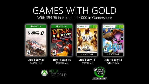 Jocurile gratuite Xbox Games with Gold Iulie 2020