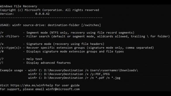 Microsoft a lansat Windows File Recovery cu ajutorul caruia veti putea recupera fisierele sterse