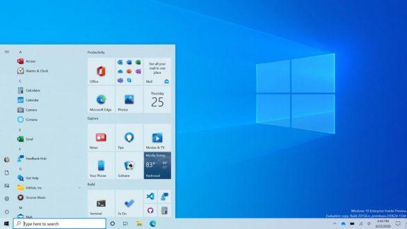 Microsoft a schimbat aspectul meniului Start in ultimul update